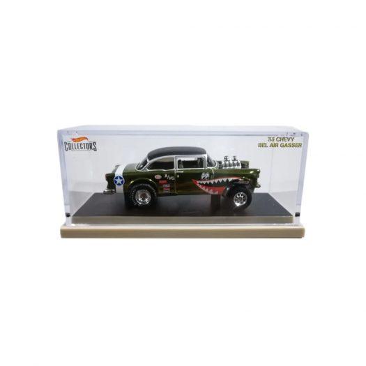 Hot Wheels RLC 55 Chevy Bel Air Gasser Spectraflame Olive (Black Roof)