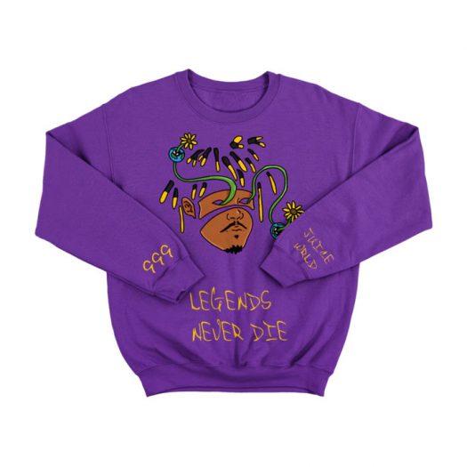 Juice Wrld Legends Never Die Crewneck Sweatshirt Purple