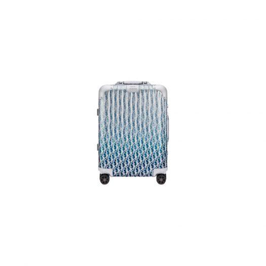 Dior x RIMOWA 4-Wheel Cabin Suitcase Aluminium Dior Oblique Blue Gradient in Aluminium with Silver-tone