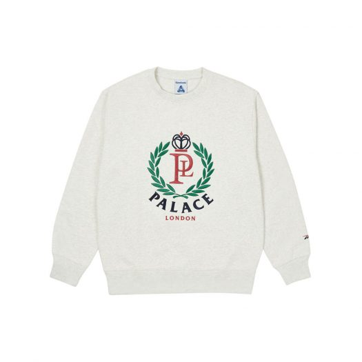 Palace x Reebok NPC Crew Sweatshirt Light Grey Marl
