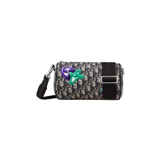 Dior x Kenny Scharf Roller Messenger Bag Beige/Black in Jacquard Canvas with Ruthenium-finish Brass