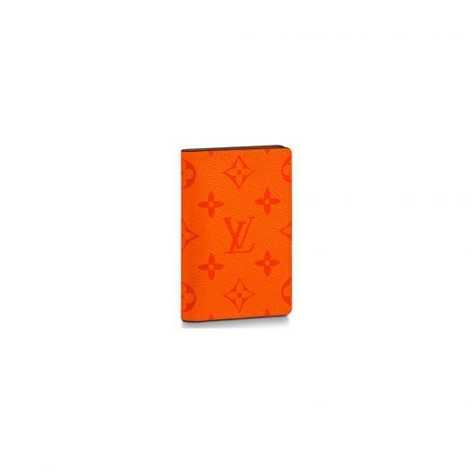Louis Vuitton Pocket Organizer Monogram Eclipse Volcano Orange in Taiga Cowhide Leather/Coated Canvas