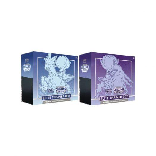 Pokémon TCG Sword & Shield Chilling Reign Elite Trainer Box Ice Rider Calyrex/Shadow Rider Calyrex 2x Bundle
