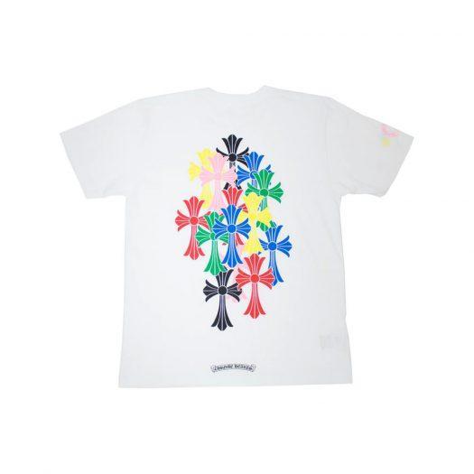Chrome Hearts Multi Color Cross Cemetery T-Shirt White