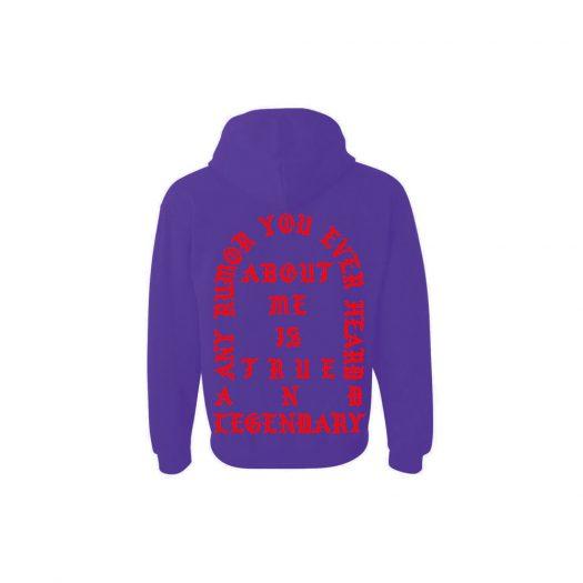 Kanye West Los Angeles Pablo Pop-Up True And Legendary Hoodie Purple