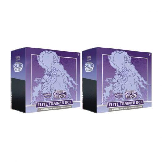 Pokémon TCG Sword & Shield Chilling Reign Elite Trainer Box (Shadow Rider Calyrex) 2x Lot