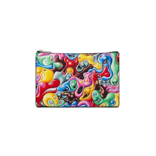 Dior x Kenny Scharf Pouch Multicolor in Nylon with Ruthenium-finish Brass