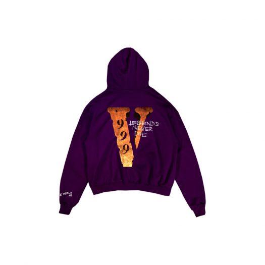 Juice Wrld x Vlone Legends Never Die Hoodie Purple