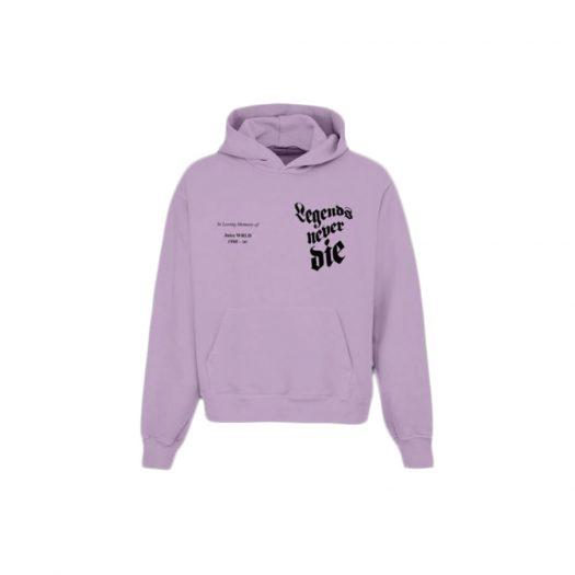 Juice Wrld In Loving Memory Hoodie Purple