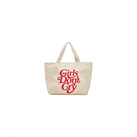 Girls Dont Cry Logo Tote Natural