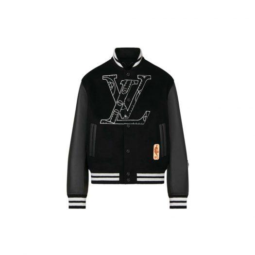 Louis Vuitton x NBA Leather Basketball Jacket Black