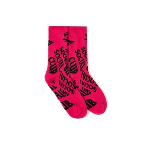 Anti Social Social Club No Drama Socks Pink