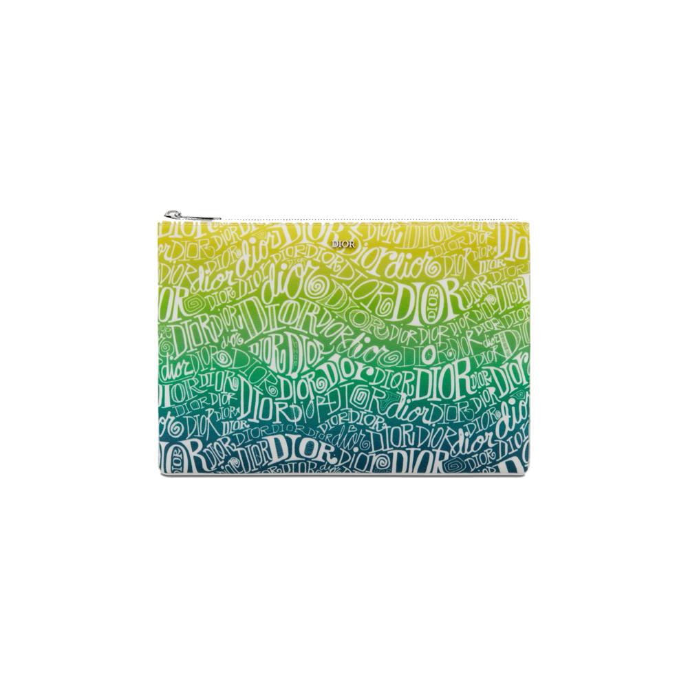 Dior And Shawn Pouch Nylon Multicolor in Nylon with Palladium-finish