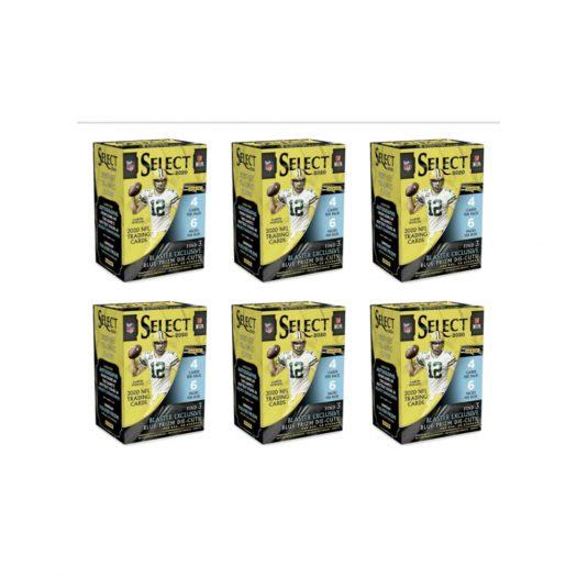 2020 Panini Select Football Blaster Box 6x Lot (Blue Prizm Die-Cuts)