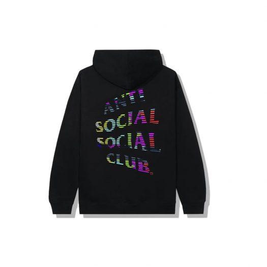 Anti Social Social Club Fuzzy Connection Hoodie Black