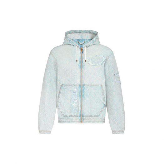 Louis Vuitton x NBA Zip-Through Hoodie Blue