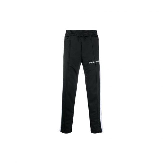 Palm Angels Slim Fit Side Stripe Track Pants Black/White