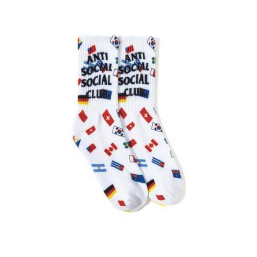 Anti Social Social Club Business Socks White