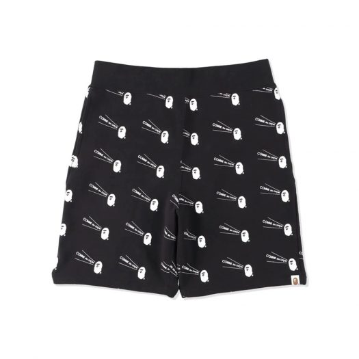 Bape X Cdg Osaka Sweatshort Black