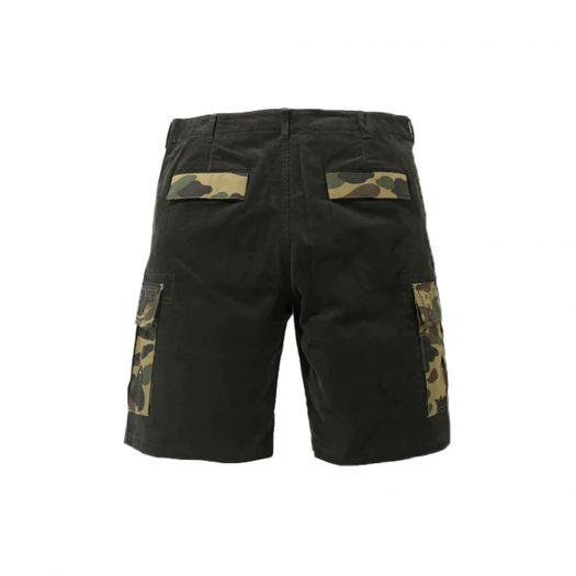 Bape 1st Camo Corduroy Wide 6pocket Shorts Olivedrab