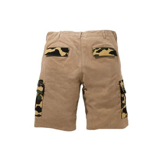 Bape 1st Camo Corduroy Wide 6pocket Shorts Beige