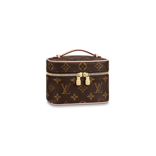 Louis Vuitton Nice Monogram Nano Brown in Coated Canvas with Gold-tone