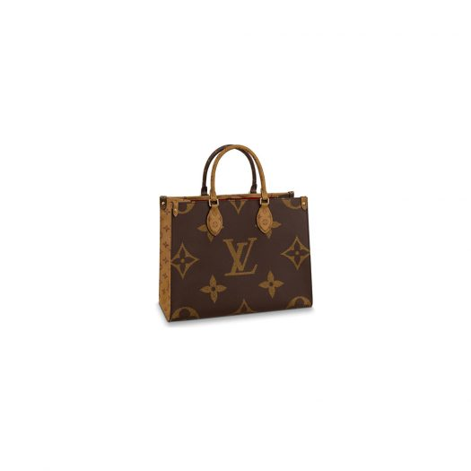 Louis Vuitton Onthego Monogram Giant Reverse MM Brown in Coated Canvas with Gold-tone