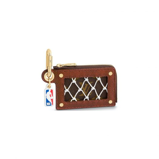 Louis Vuitton x NBA Legacy Net Zippy Card Holder Black/Brown in Leather with Gold-tone