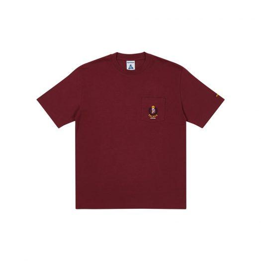 Palace x Reebok NPC Pocket T-Shirt Burgundy