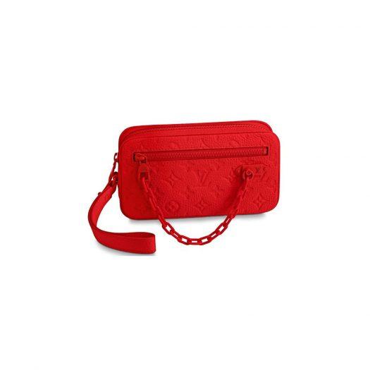 Louis Vuitton Pochette Volga Monogram Rouge in Taurillon Leather with Tone-on-Tone