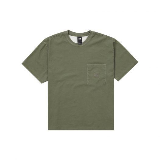 Supreme The North Face Pigment Printed Pocket Tee Olive