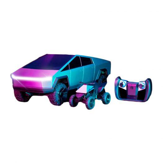 Hot Wheels x Tesla Cybertruck 1:10 Scale RC Car (2021 Version w/ Cyberquad)