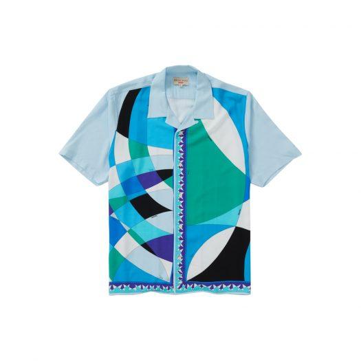 Supreme Emilio Pucci S/S Shirt Blue