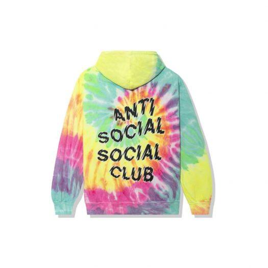 Anti Social Social Club Maniac Hoodie Rainbow Tie Dye