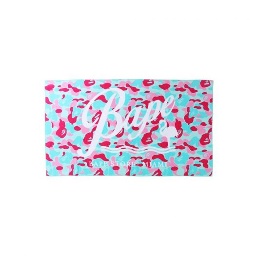 BAPE Store Miami Beach Towel Pink/Blue
