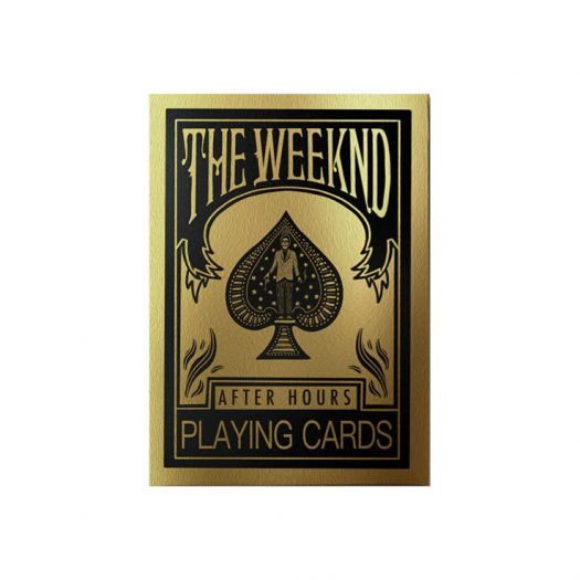 The Weeknd After Hours Playing Cards Gold