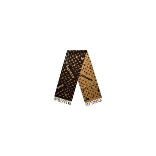 Supreme x Louis Vuitton Monogram Scarf Brown