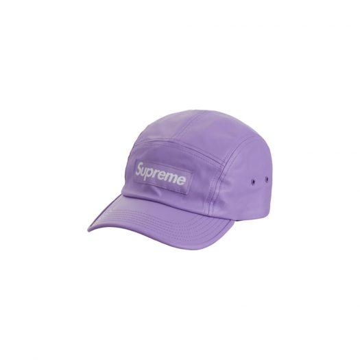 Supreme Leather Camp Cap Lavender