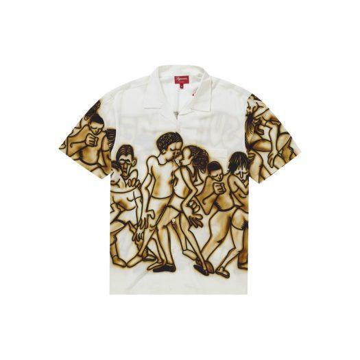 Supreme Dancing Rayon S/S Shirt White