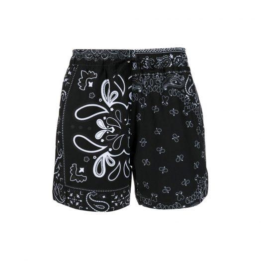 AMIRI Bandana Swim Shorts Black
