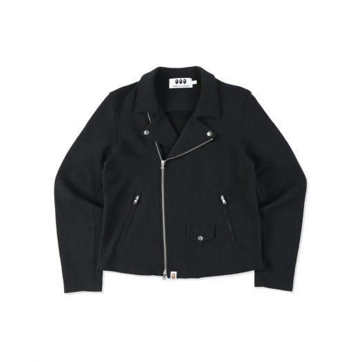 Bape X Cdg Osaka Sweat Biker Jacket Black