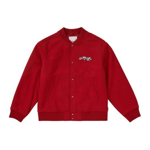 Supreme Delta Logo Varsity Jacket Red