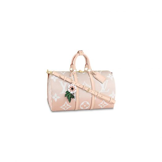 Louis Vuitton Keepall Bandouliere Gradient Pastel 45 Mist Gray in Coated Canvas with Gold-tone