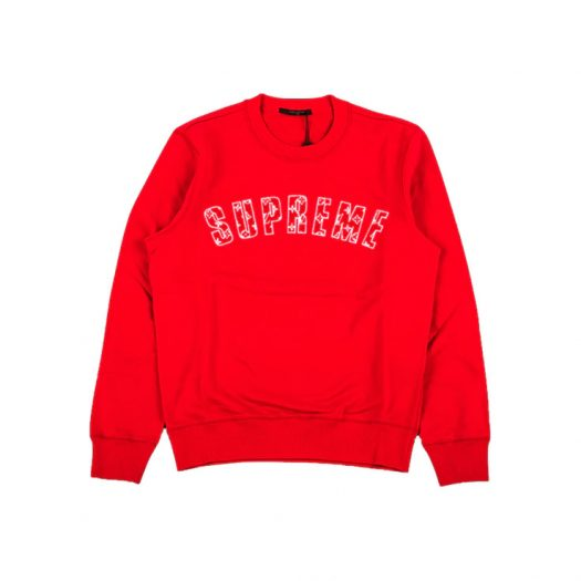 Supreme x Louis Vuitton Arc Logo Crewneck Red