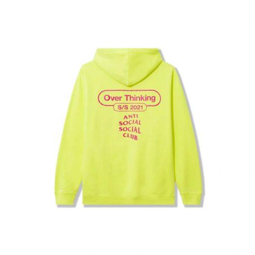 Anti Social Social Club Over Thinking 21 Hoodie Neon Green