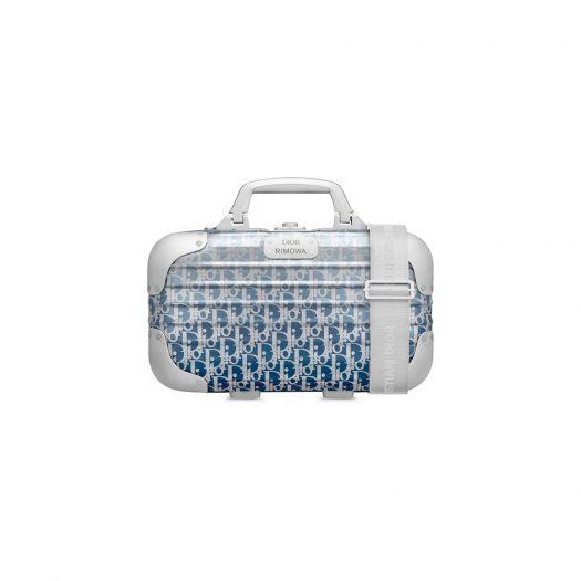 Dior x RIMOWA Carry-On Case Aluminium Dior Oblique Blue Gradient in Aluminium with Silver-tone