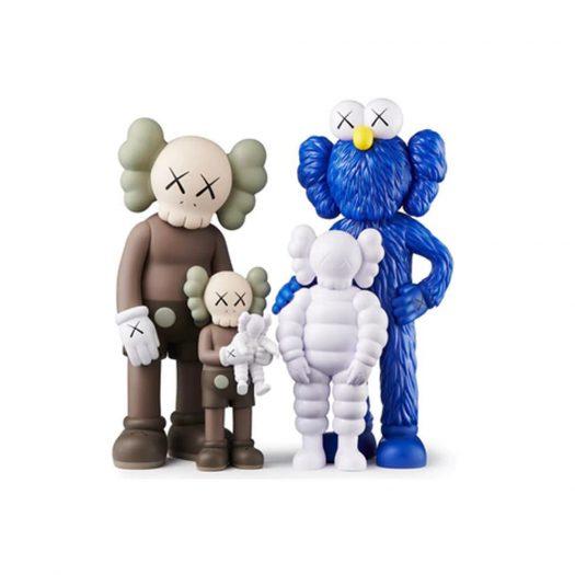 KAWS FAMILY Figures Brown/Blue/White