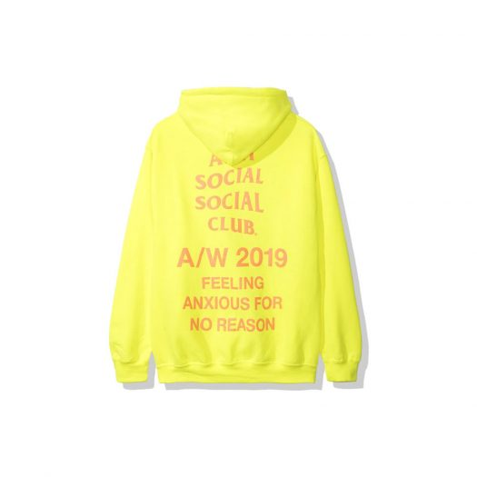Anti Social Social Club Feeling Anxious Hoodie (FW19) Neon Green