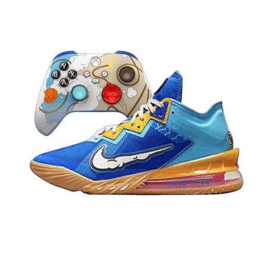 Nike Lebron 18 Low Xbox Controller Set Wile E. vs Roadrunner Space Jam