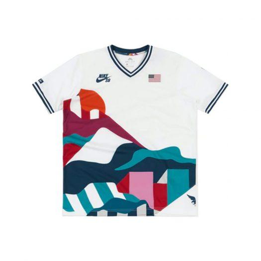 Nike SB x Parra USA Federation Kit Crew Jersey White/Brave Blue